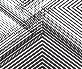 Naklejkablack and white mobious wave stripe optical abstract design
