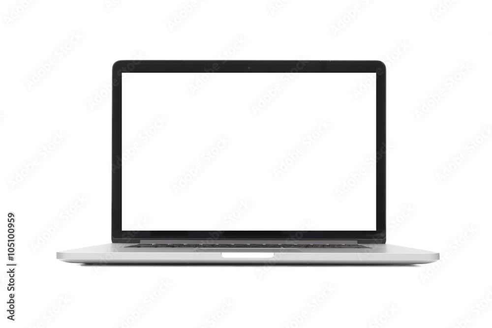 Fototapeta isolated laptop with blank space on white background