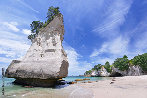 In de dag Cathedral Cove Cathedral Cove beach on Coromandel Peninsula