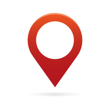 Red Map Pointer Icon Marker GP...