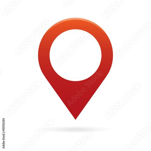 Fotografía  red map pointer icon marker GPS location flag symbol
