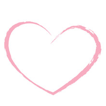 Pink Heart Drawing Love Valent...