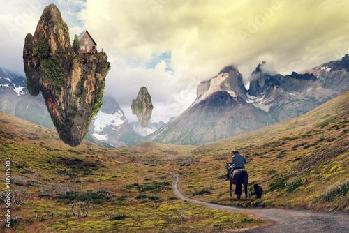 Fotografie, Obraz  Landscape at Torres del Paine, Chile
