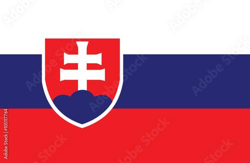 Obraz na dibondzie (fotoboard) Flaga słowacka.
