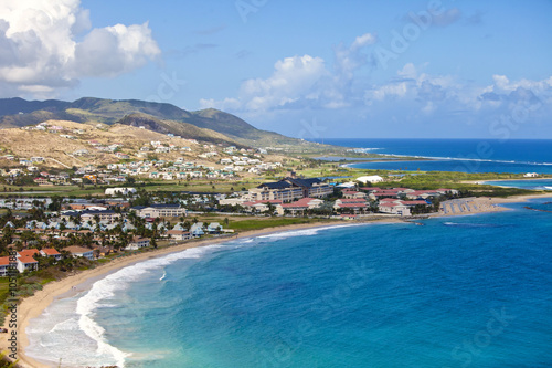 aerial view of resort in st kitts in the Caribbean