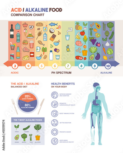 The acidic alkaline diet Wallpaper Mural