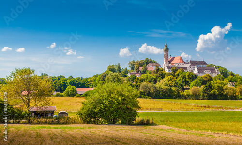 Canvas Prints Honey Andechs Abbey in summer, district of Starnberg, Upper Bavaria, Germany