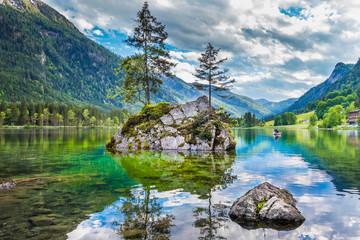 FototapetaLake Hintersee in Nationalpark Berchtesgadener Land, Bavaria, Germany