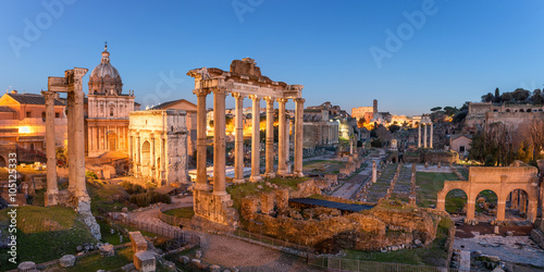 Canvas Print Roman Forum in Rome
