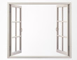 canvas print picture - residential window frame