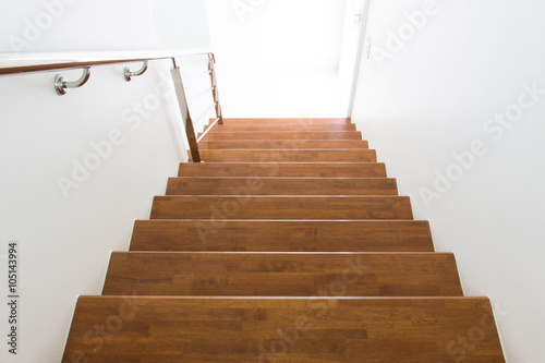 Tuinposter Trappen stair wood