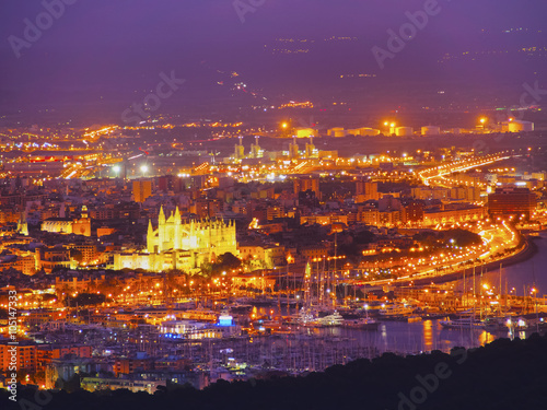 City on the water Aerial view of Palma of Majorca
