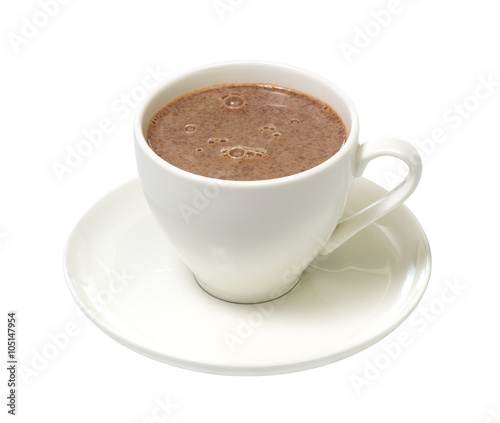 Foto op Plexiglas Chocolade cup cocoa isolated on a white background