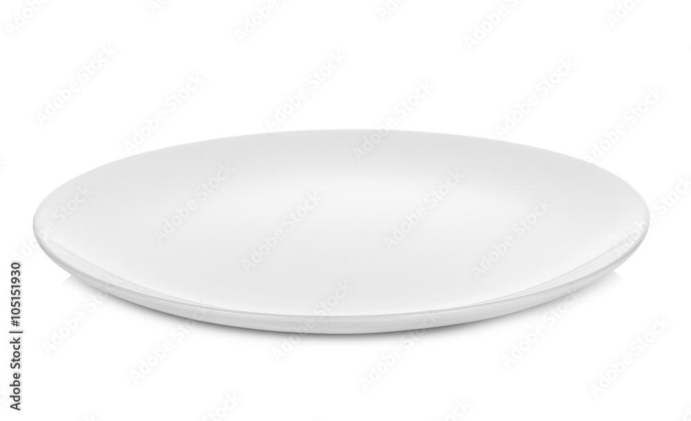 Fotografie, Obraz white plate isolated on white background