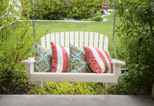 Beautiful Wooden Front Porch S...