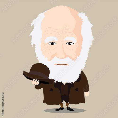 Carta da parati Vector illustration - Charles Darwin