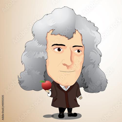 Fotografie, Obraz  Vector illustration - Sir Isaac Newton