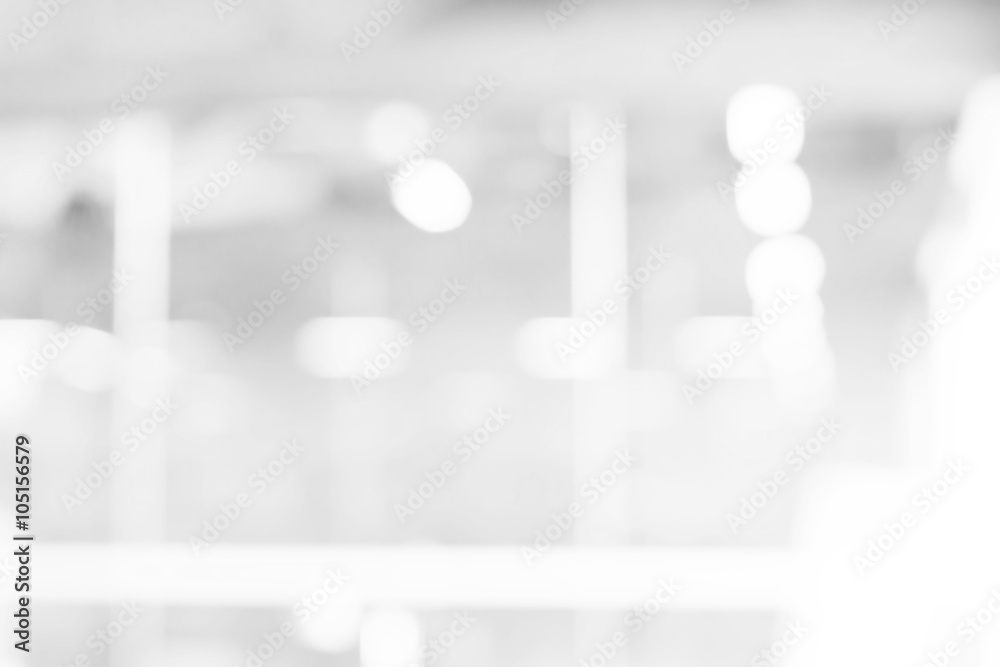 Fototapety, obrazy: abstract white and gray bokeh lights background with motion blur