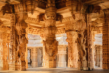 Architecture Of Ancient Ruins Of Temple In Hampi