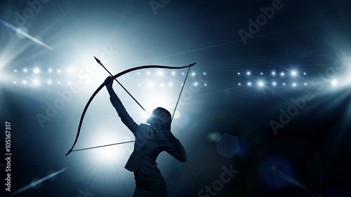 Woman aiming her goal Canvas Print