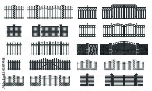 Fotografia Vector fence silhouette set