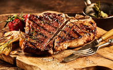 Succulent Grilled T Bone Steak...