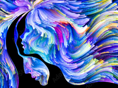 Canvas Print Visualization of Passion