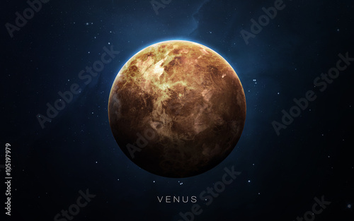 Fotografia Venus - High resolution 3D images presents planets of the solar system