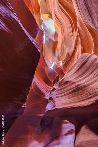 Poster Bordeaux Antelope Canyon in the Navajo Reservation near Page, Arizona, USA.