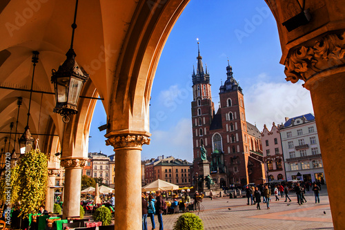 Photo sur Toile Cracovie Saint Mary Basilica in Krakow