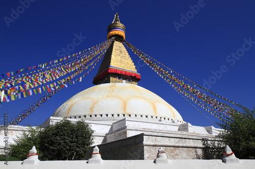 Staande foto Nepal Boudhanath is a buddhist stupa in Kathmandu, Nepal.