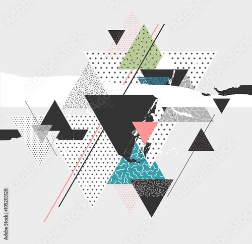 abstrakcjonistycznej-sztuki-tlo-z-geometrycznymi-elementami