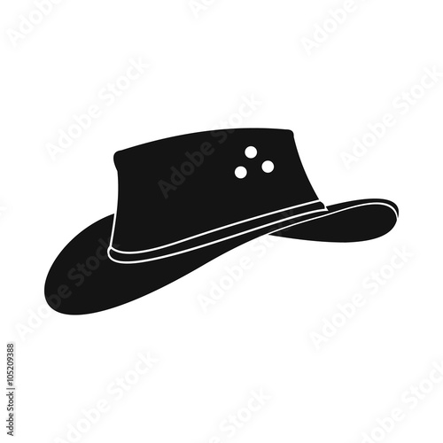 Photo Cowboy hat icon, simple style