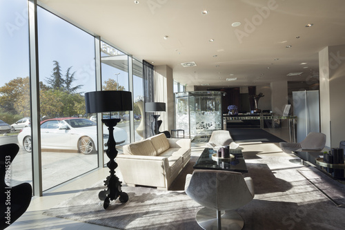 Lounge area of a hotel, club, company lobby - Buy this stock photo