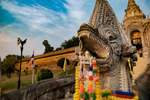 Nagas At Wat Phra That Lampang...