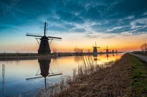 Poster Molens Kinderdijk in holland