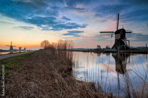 Aluminium Prints Mills Kinderdijk in holland