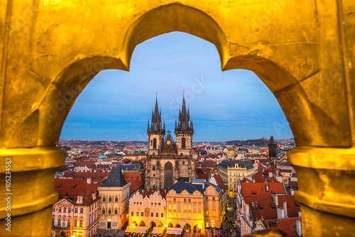 Recess Fitting Prague Prague, Tyn Church and Old Town Square