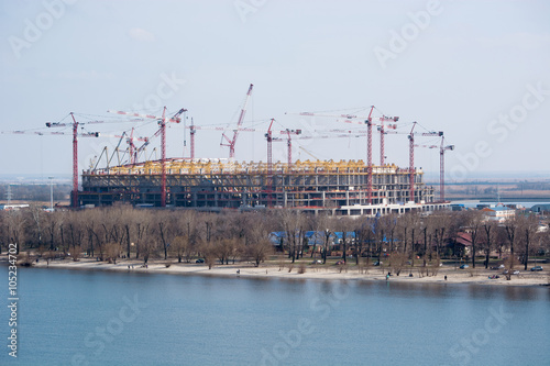Foto op Plexiglas Stadion The construction of the stadium for the world Cup 2018