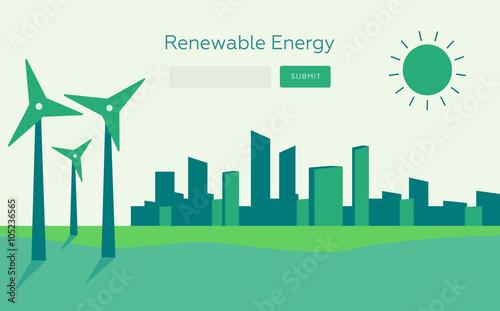 Renewable energy vector illustration  Renewable energy