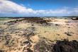 The coast of Atlantic ocean near town Orzola on Lanzarote, Canar