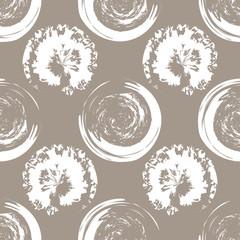 Panel Szklany Do kawiarni White blots on white coffee background