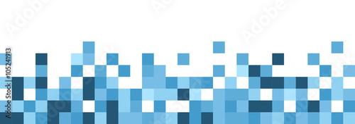Fototapeta Blue and white abstract banner. obraz