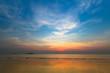 Seaside after sunset.