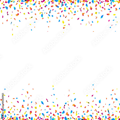 celebration background with colorful confetti � seamless
