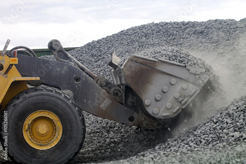 Auto Loader Drawing Gravel Up into Scoop Wallpaper Mural