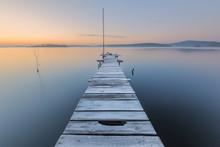 Frosty Dawn On Lake
