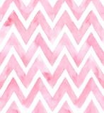 Szewron różowy kolor na białym tle. Akwarela bezszwowe wzór - 105273950