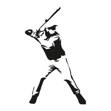 Baseball Player Vector Isolated Illustration
