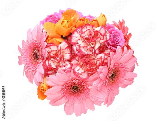Fotografija カーネーション、薔薇とガーベラの花束